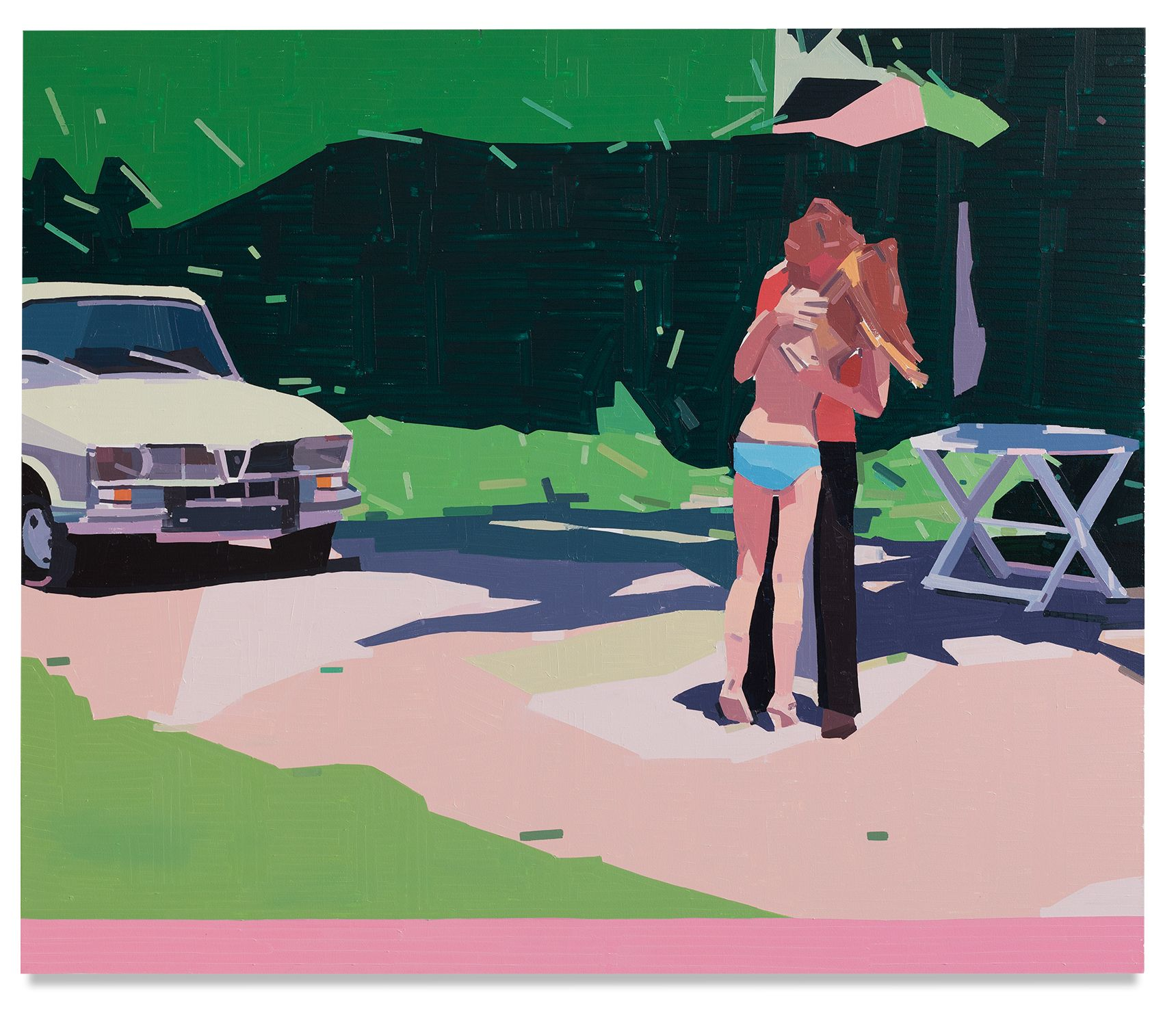 Claire and Her Boyfriend, 2021, Oil on canvas, 63 x 74 3/4 inches, 160 x 190 cm,MMG#33116