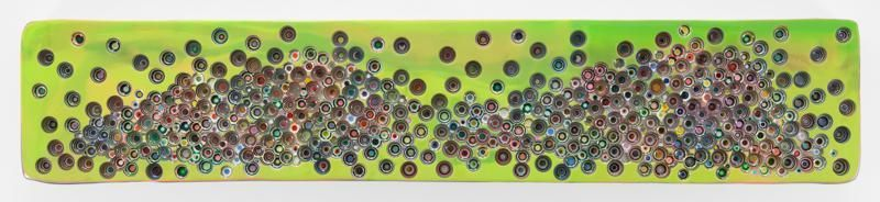 SUDDENLYFOURSNOTFIVES, 2016, Epoxy resin and pigments on wood, 18 x 96 inches, 45.7 x 243.8 cm, AMY#28365