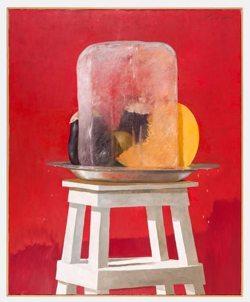Julio Larraz, The Ice, 2001, Oil on canvas, 73 x 59 inches, 185.4 x 149.9 cm, A/Y#22026