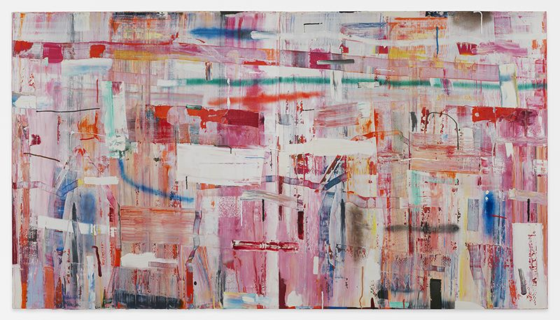 Tomory Dodge, Stutter, 2014, Oil on canvas, 84 x 144 inches, 213.4 x 365.8 cm, MMG#29739