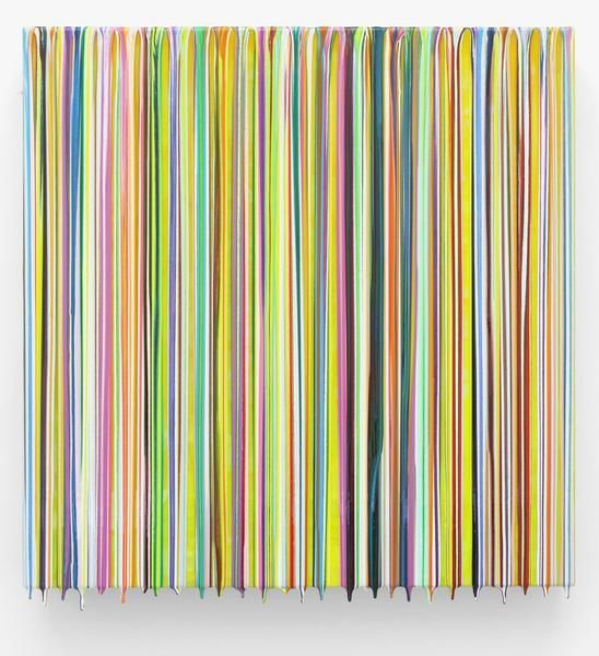 Markus Linnenbrink, ALMOSTTHEREANDNOWHERENEAR, 2014, Epoxy resin and pigments on wood, 24 x 24 inches, 61 x 61 cm, A/Y#22170