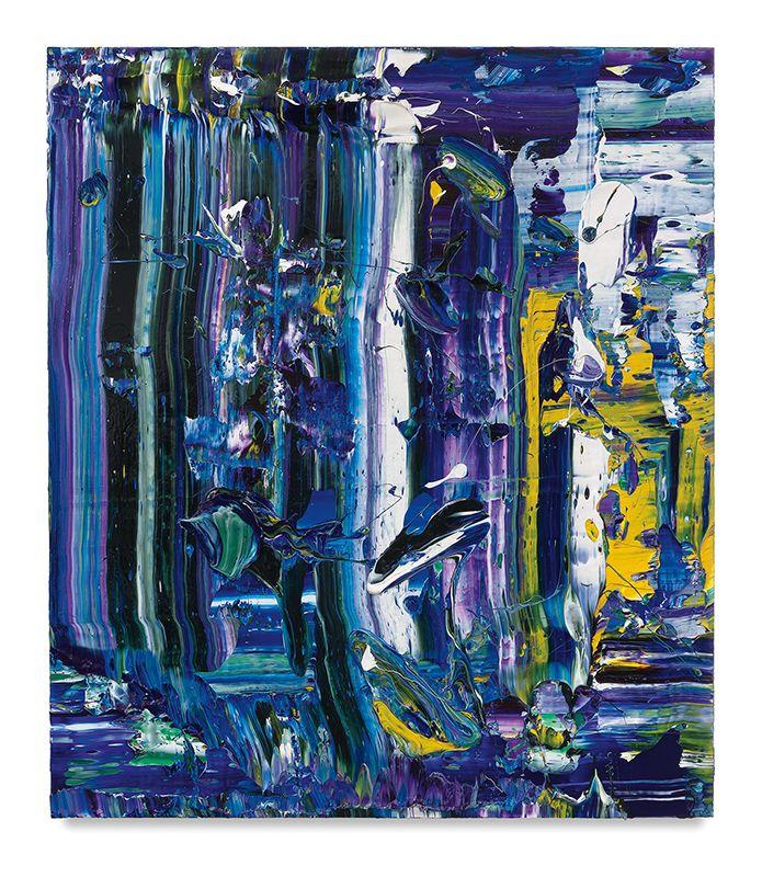 Grape Escape, 2018, Acrylic on linen, 60 x 52 inches, 152.4 x 132.1 cm, MMG#30008