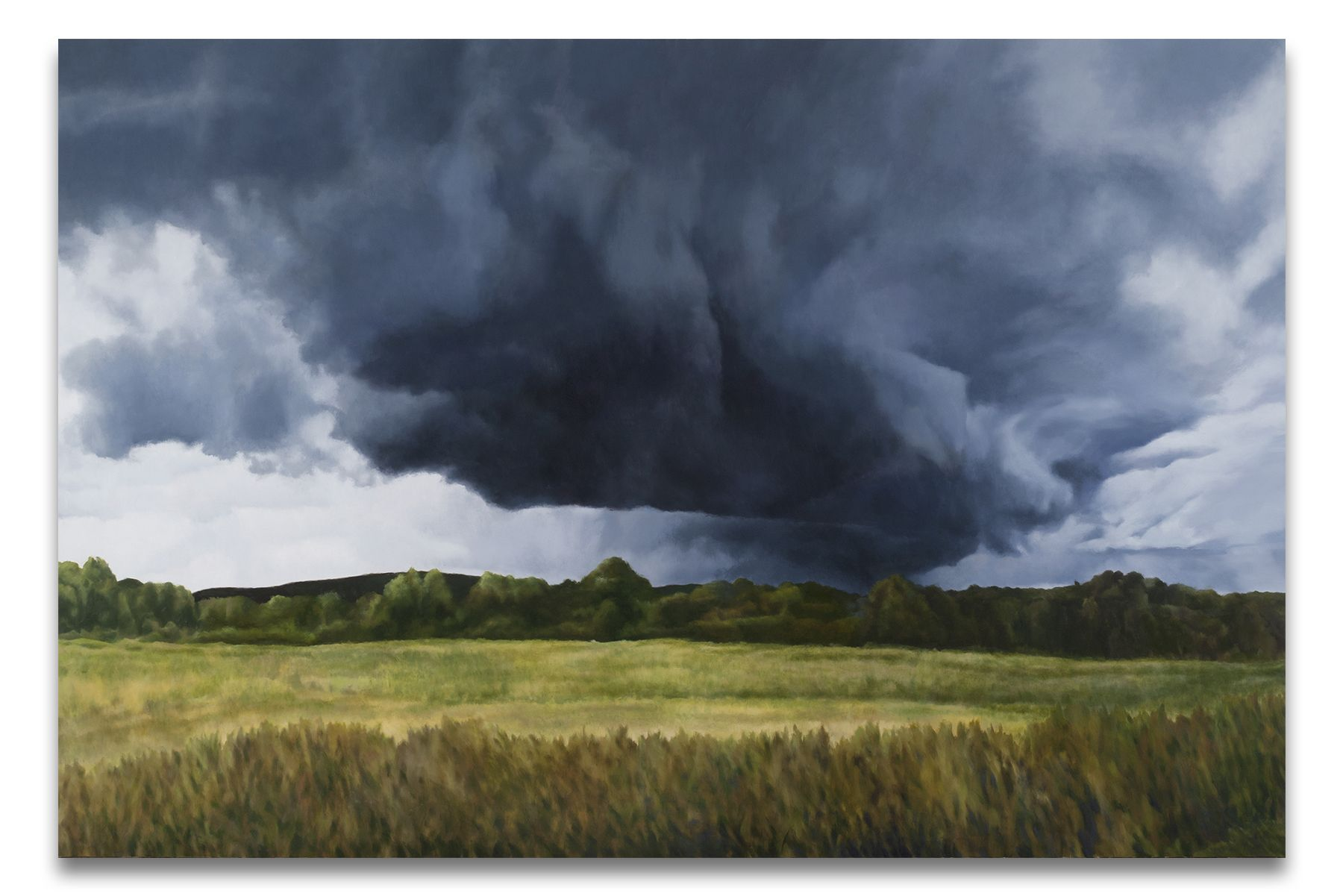 Cloud Bringing Night, 2015, Oil on linen,72 x 108 inches,182.9 x 274.3 cm, MMG#30406