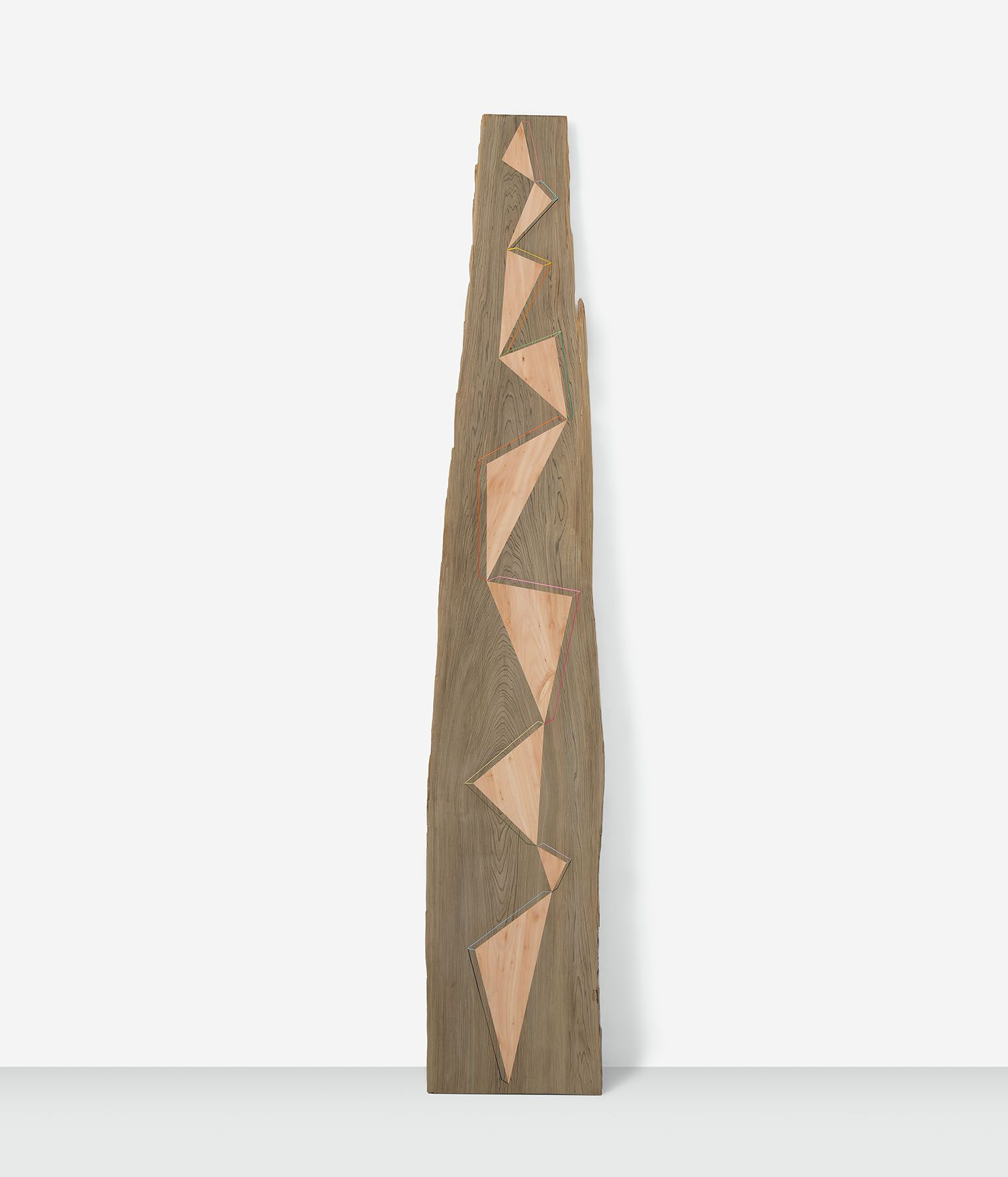 Balancing Act, 2018, Cypress with cherry inlay and acrylic, 103 1/2 x 18 1/2 x 1 1/2 inches, 262.9 x 47 x 3.8 cm, MMG#30713
