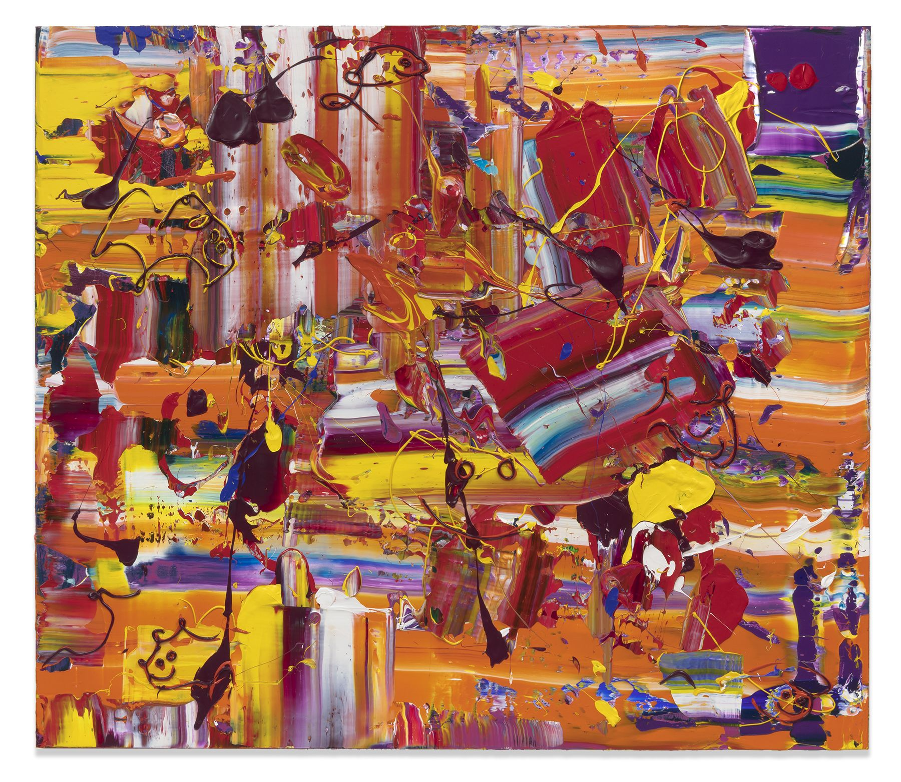 Michael Reafsnyder, Orange Slurp, 2018, Acrylic on linen