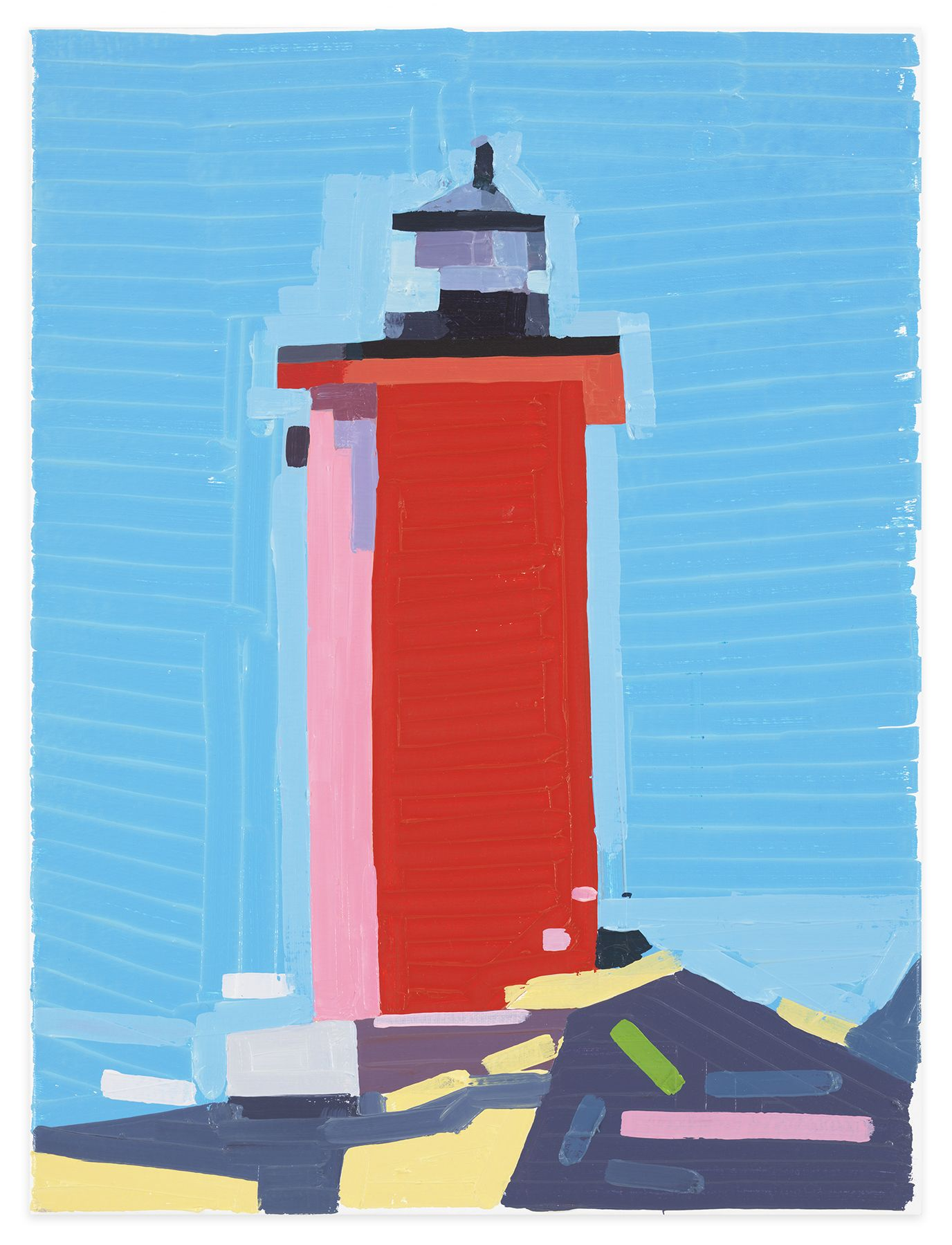 Europe Lighthouse, 2020, Oil on canvas, 15 3/4 x 11 7/8 inches, 40 x 30 cm,MMG#32647