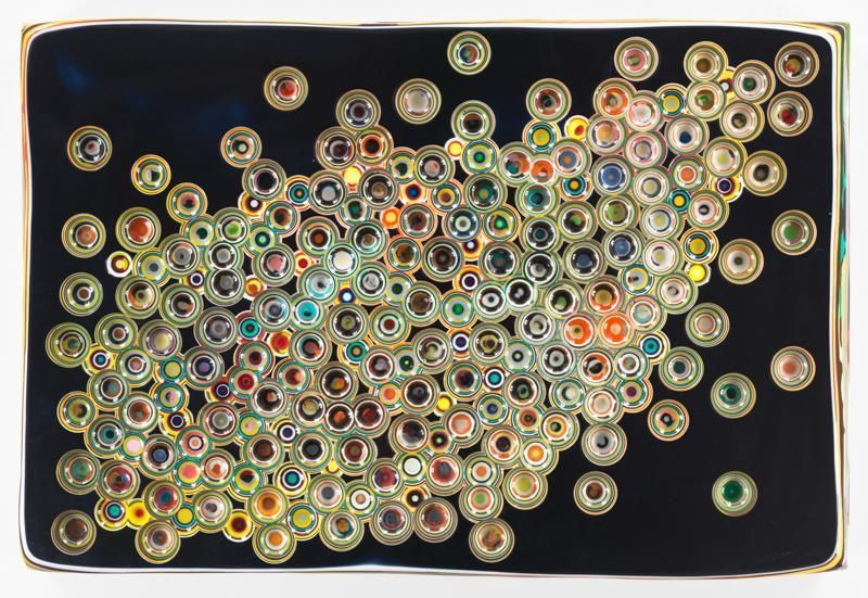 CONSTANTLYSIMULTANEOUSLY, 2016, Epoxy resin and pigments on wood, 24 x 36 inches, 61 x 91.4 cm, AMY#28219