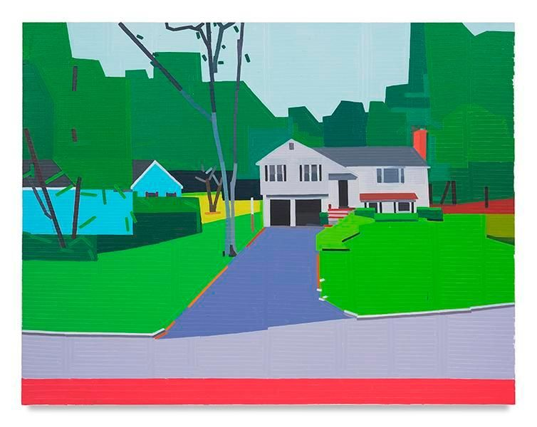 Fox Hill Road, 2017, Oil on linen, 55.12 x 70.87 inches, 140 x 180 cm, MMG#29071