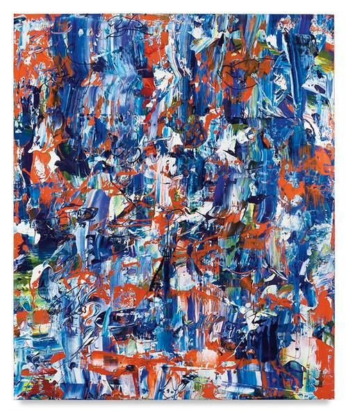 Buoyant Buddies, 2016, Acrylic on linen, 72 x 60 inches, 182.9 x 152.4 cm, MMG#28422
