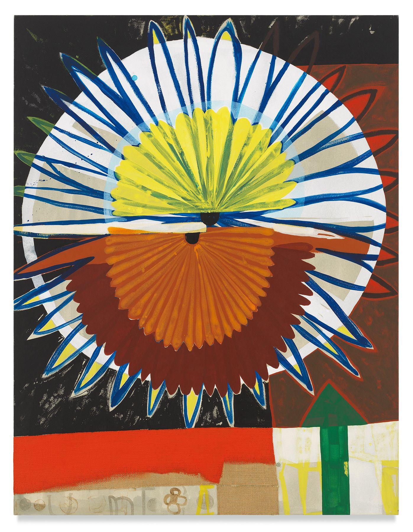 Roy Dowell, untitled #889, 2003, Acrylic and burlap on canvas