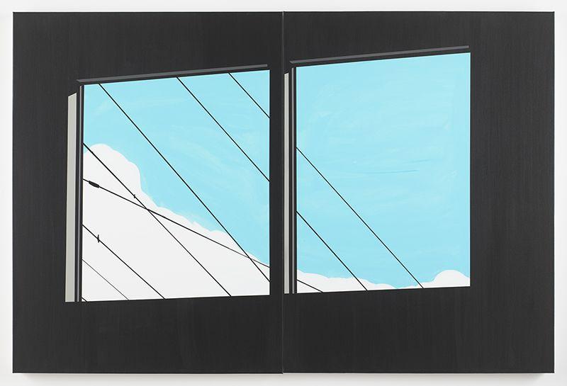 Brian Alfred,Windows, 2018,Acrylic on canvas,40 x 60 inches,101.6 x 152.4 cm, MMG#29777