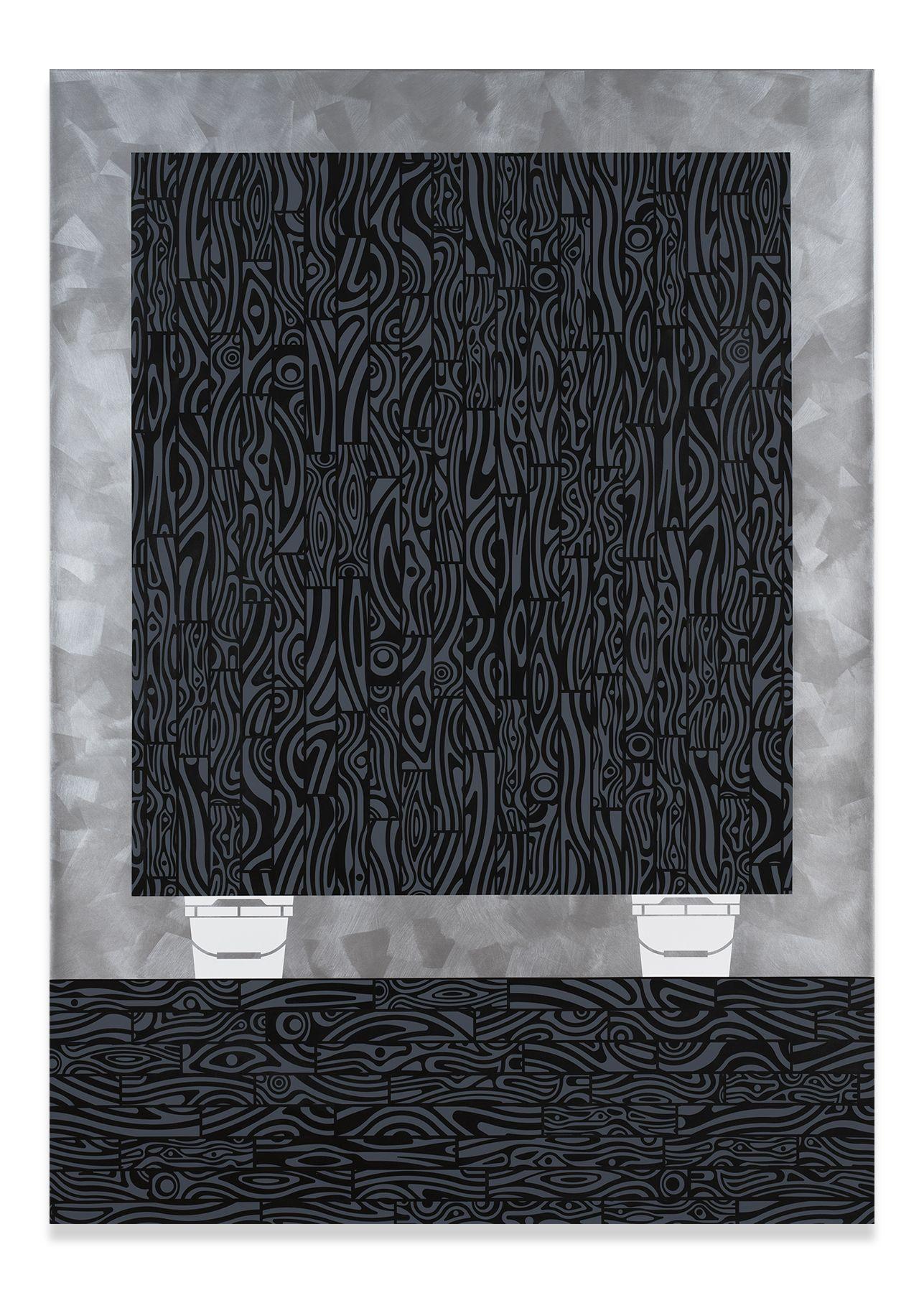 Studio Floor (Grey), 2017,Acrylic on linen,84 x 60 inches,213.4 x 152.4 cm,MMG#31349