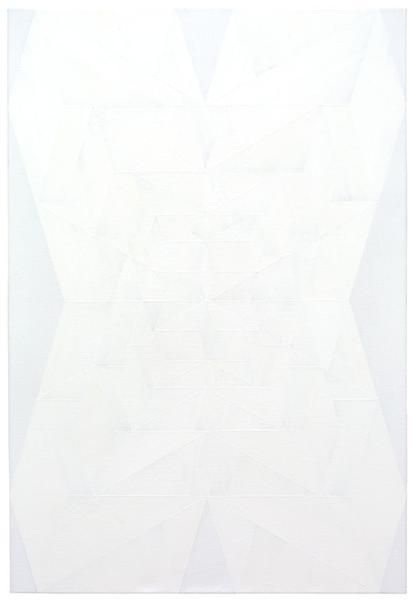 Andrew Kuo, Oops (White), 2015, Acrylic on linen, 39 x 27 inches, 99.1 x 68.6 cm, A/Y#22643