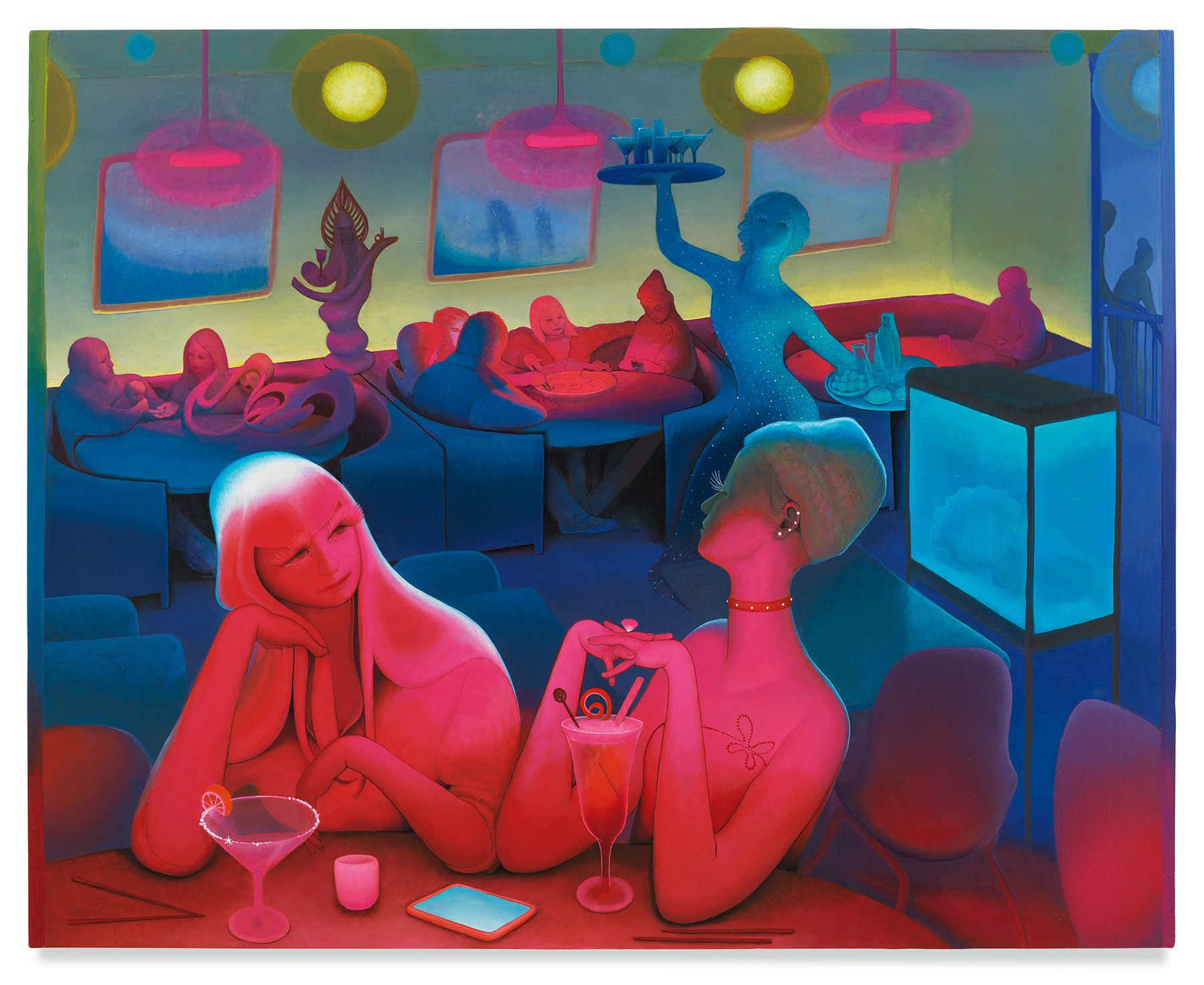 Mission Chinese Restaurant, 2020, Enamel on canvas, 40 x 50 inches,101.6 x 127 cm,MMG#32009