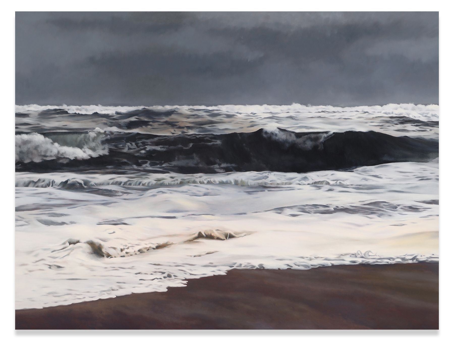 Storm, Light, Ocean, 2014, Oil on linen, 74 x 98.5 inches, 188 x 250.2 cm, MMG#30408