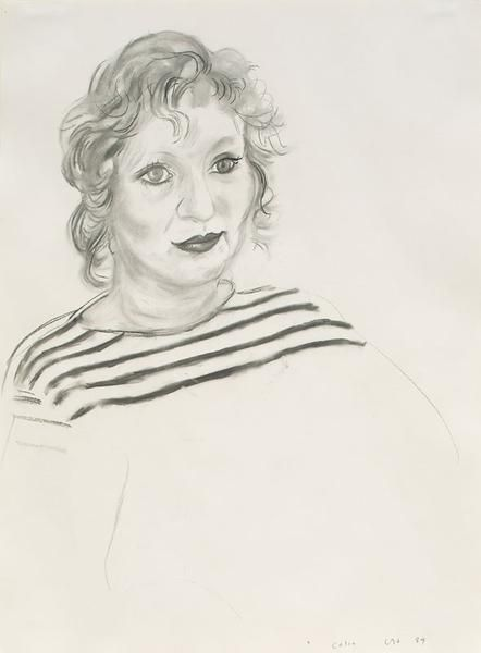 David Hockney, Celia, 1984, Charcoal on paper, 29 1/2 x 22 1/2 inches, 74.9 x 57.2 cm, A/Y#3451