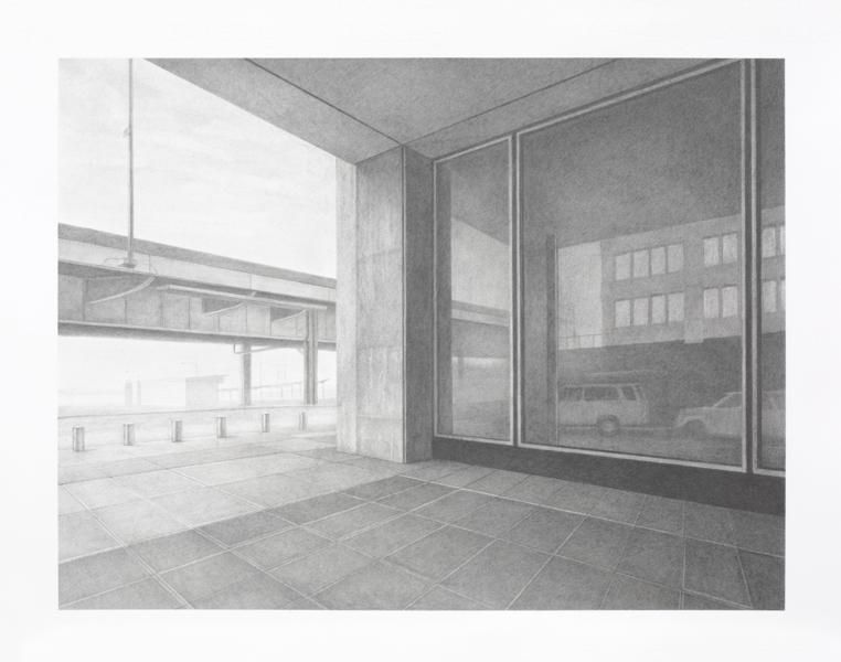 Reflection #1, 2014, Graphite on paper, 13 1/4 x 17 1/4 inches, 33.7 x 43.8 cm, A/Y#22037