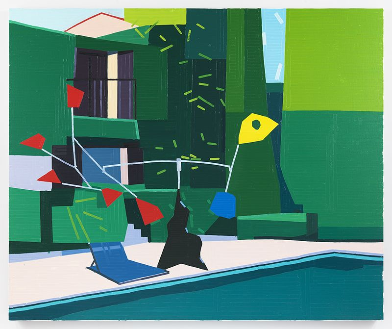 Guy Yanai, La Colombe d'Or, 2018, Oil on linen, 59.06 x 70.87 inches, 150 x 180 cm, MMG#29680