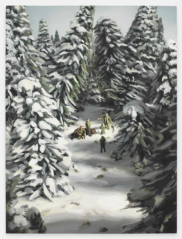 Amy Bennett, Bear Hunt, 2017, Oil on panel, 12 x 9 inches, 30.5 x 22.9 cm, MMG#29792
