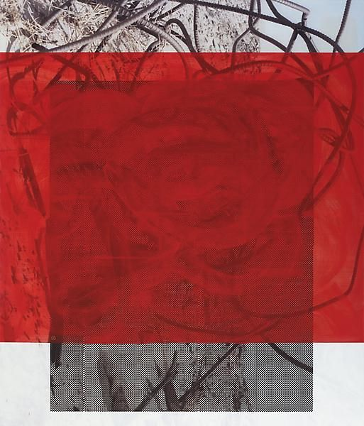 Posterity's Option, 2014, Acrylic, oil, and UV cured ink on canvas over panel, 84 x 72 inches, 213.4 x 182.9 cm, A/Y#21415.