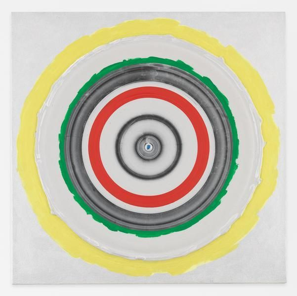 Kenneth Noland, Circle: Bird, 1998, Acrylic on canvas, 24 x 24 inches, 61 x 61 cm, AMY#28504