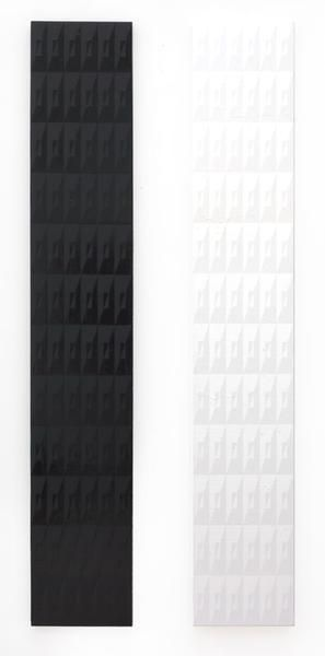 Matt Mignanelli, This American Life, 2015, Gloss and matte enamel on canvas, Diptych, each panel 72 x 12 inches, 182.9 x 30.5 cm, A/Y#22614
