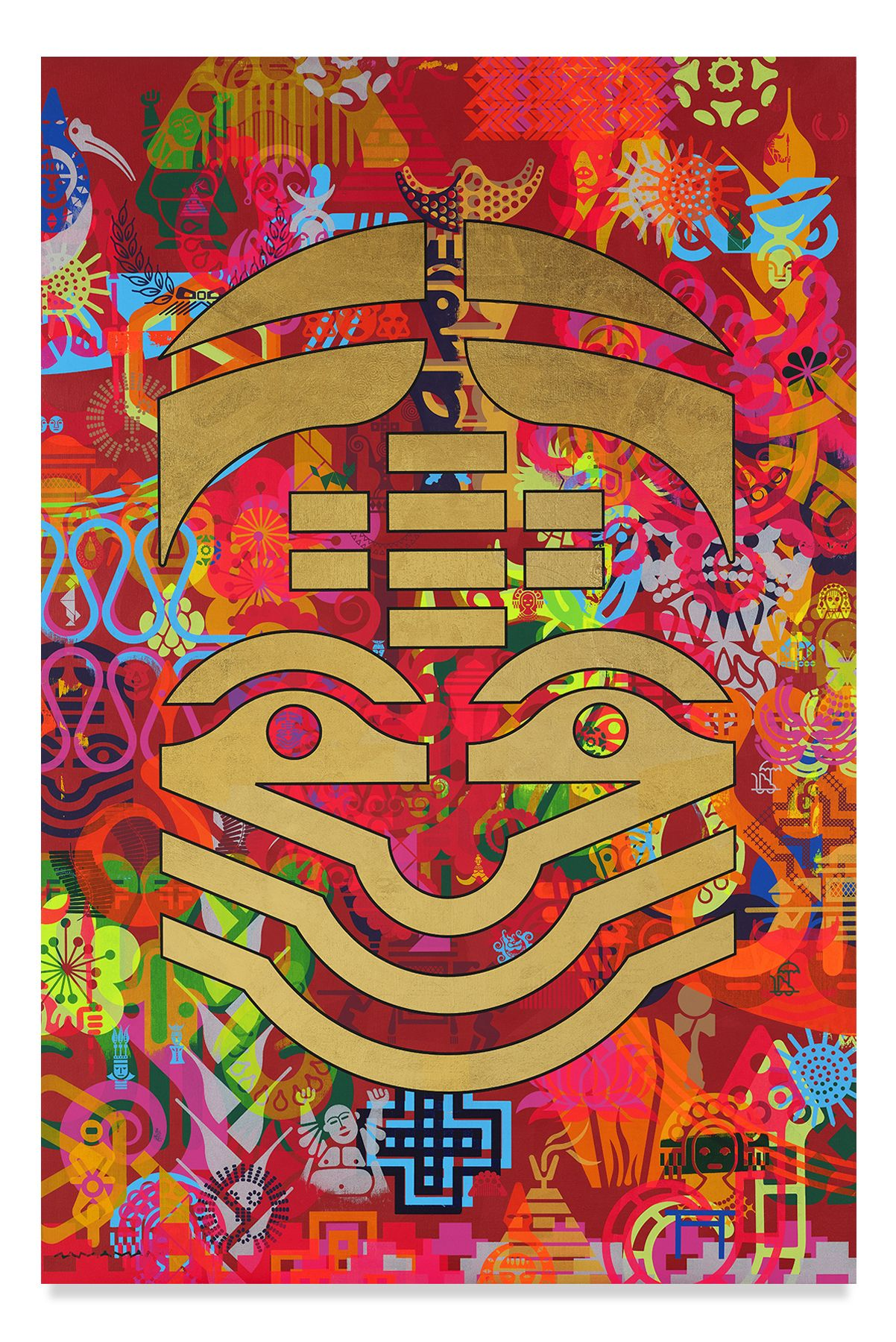 Taipei Dangdai 6, 2019,Acrylic and metal leaf on linen,60 x 40 inches,152.4 x 101.6 cm,MMG#31812