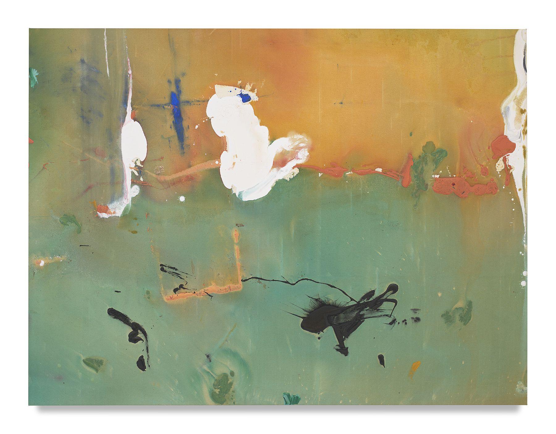 Helen Frankenthaler, White Joy, 1981, Acrylic on canvas, 53 x 70 inches, 134.6 x 177.8 cm, MMG#14149,