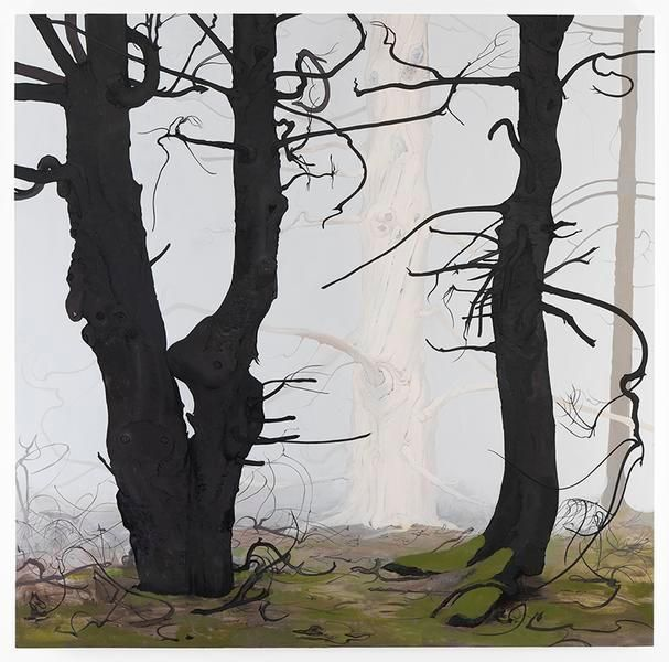 Inka Essenhigh, Spruce, 2016, Enamel on panel
