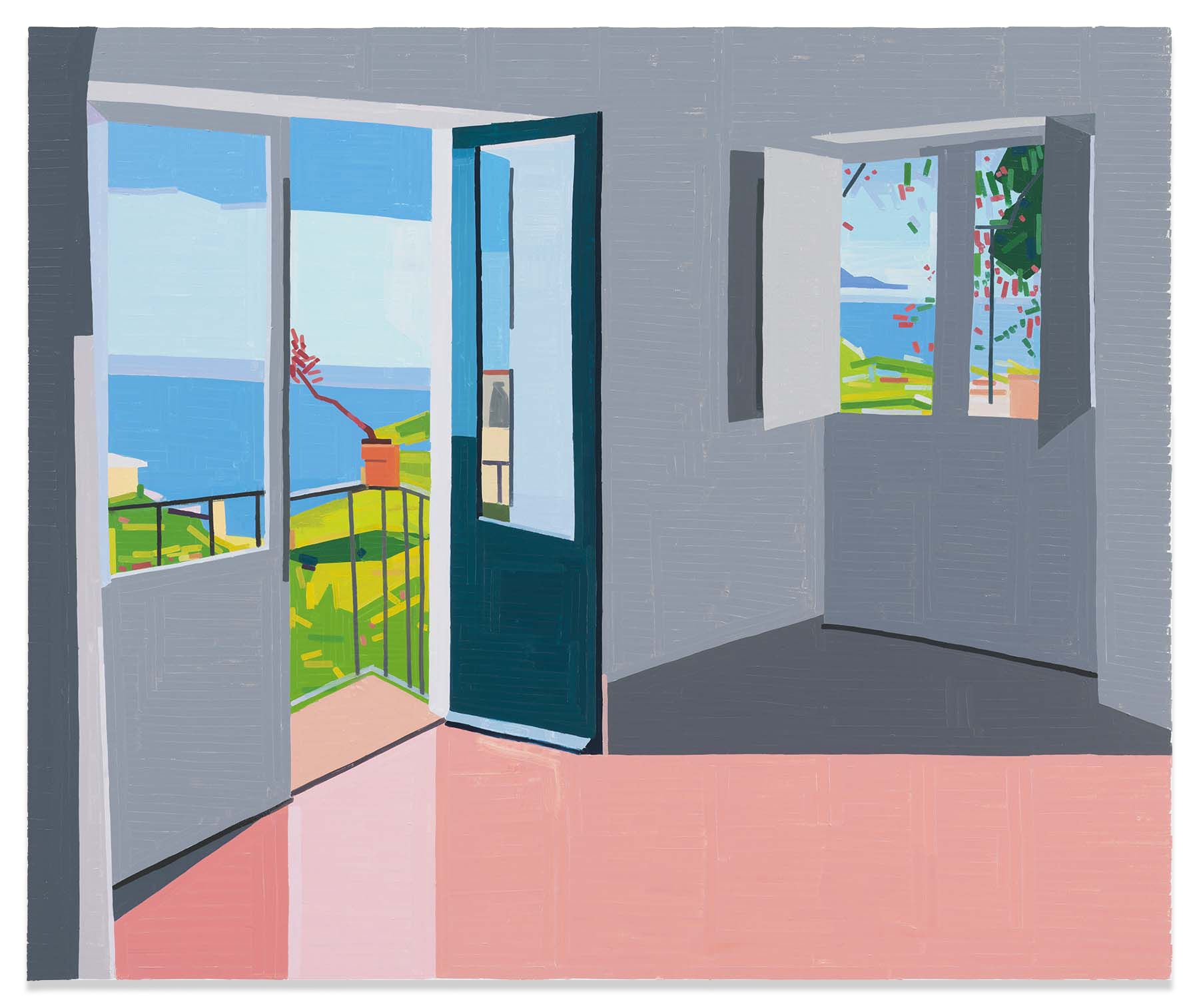 Room in Salina, 2019,Oil on canvas,59 x 70 7/8 inches,150 x 180 cm,MMG#31537