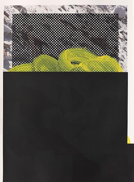 Untitled, 2014, Acrylic, oil, and UV cured ink on paper, 29 3/4 x 21 3/4 inches, 75.6 x 55.2 cm, A/Y#21425