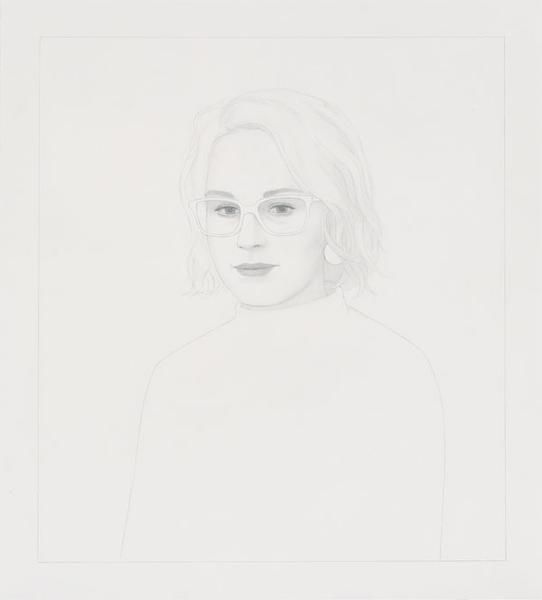 Ridley Howard, Portrait Drawing with Plastic Frames, 2014, Graphite on paper, 18 x 20 inches, 45.7 x 50.8 cm, A/Y#22676