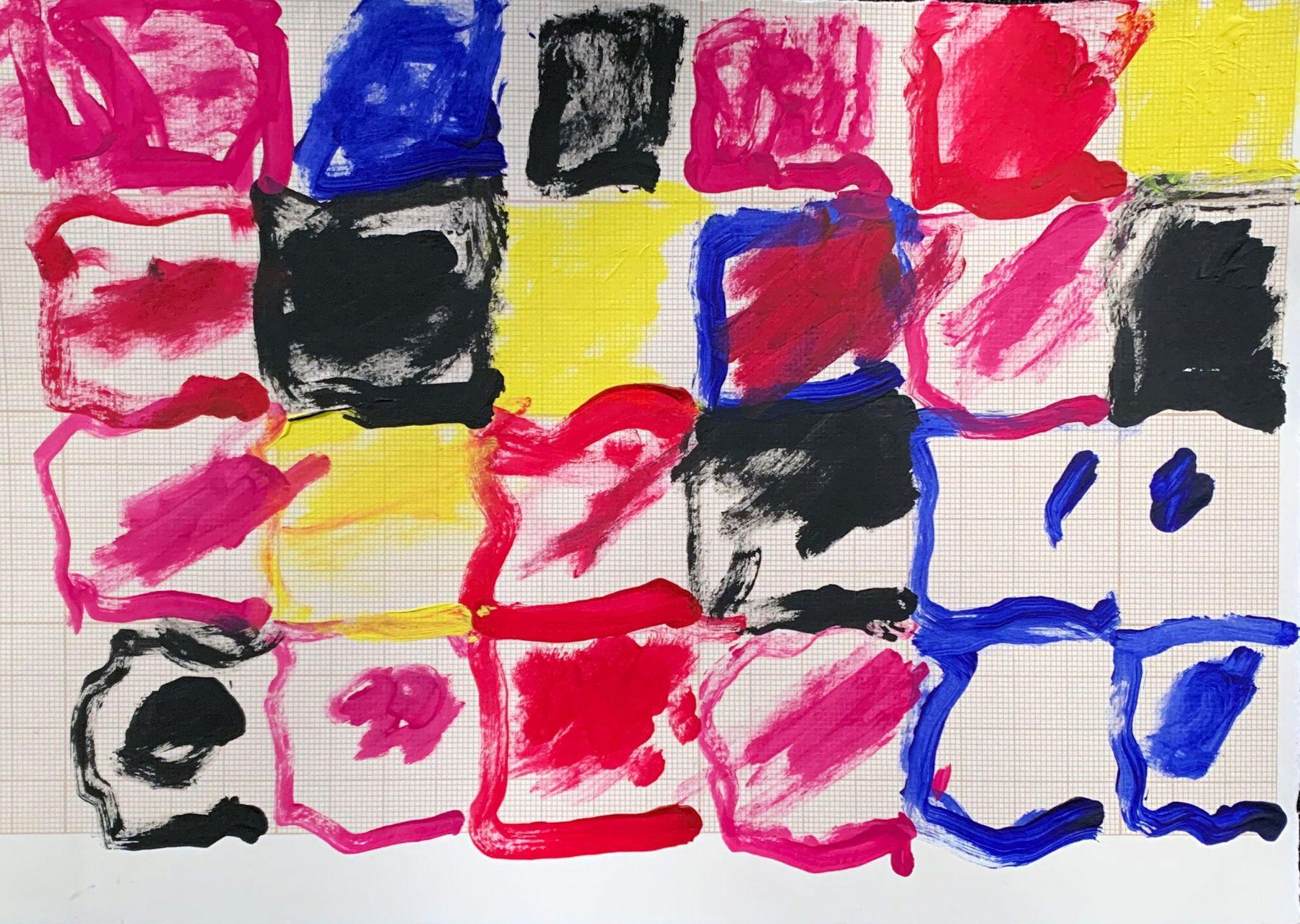 Naikia Taylor  Coloured Grid, 2019