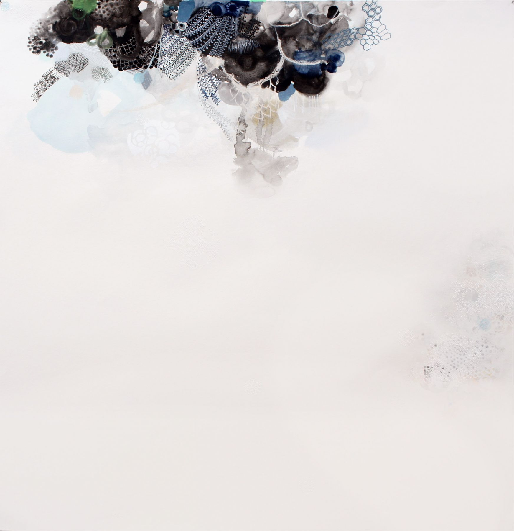 Amanda Humphries Quiet Painting  watercolour, gouache  charcoal on paper  119.5 cm x 115.5 cm  2018
