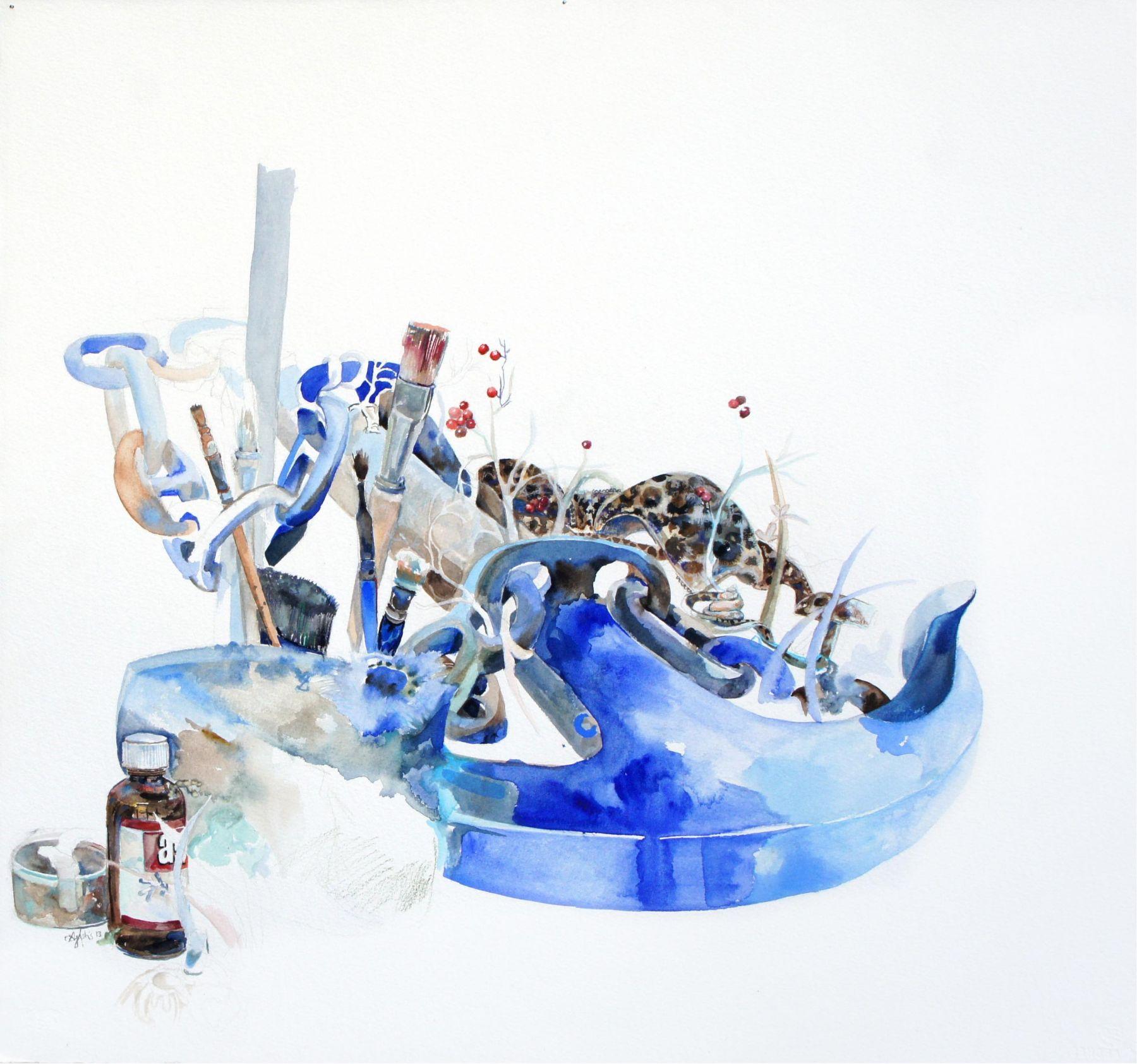 Amanda Humphries, Still Life Study (Perth) 3/5  watercolour and pencil on paper  60 x 60cm  2018