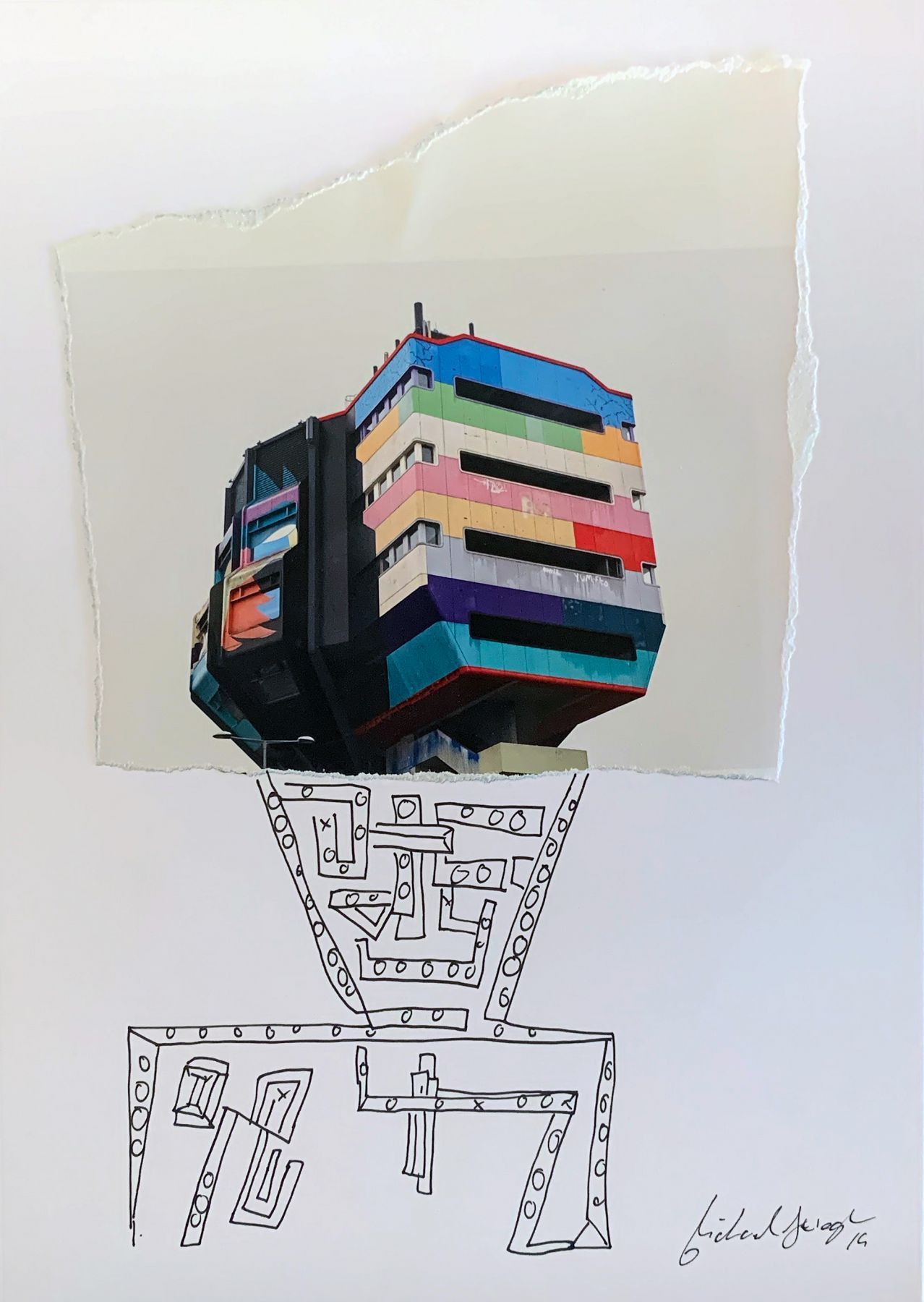 Michael Stiegler  Lego House, 2019 art from the exhibition on Bowery at Lone Goat Gallery