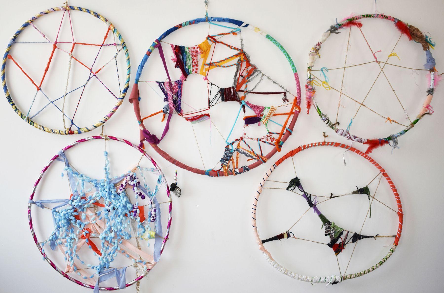 Club Lane Womens Weaving Group  Woven Hoop artwork