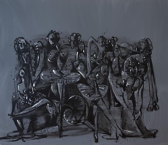 George Condo, Grey Ballet, 1998