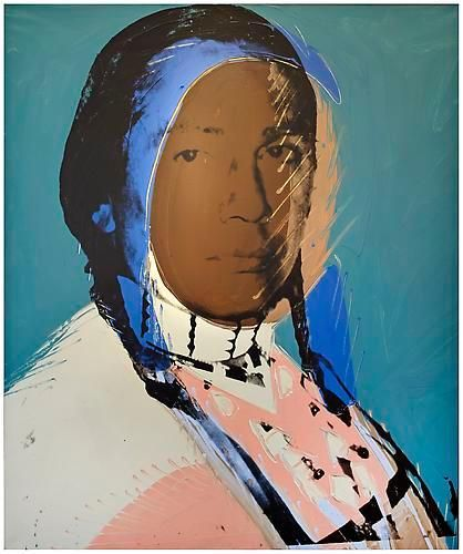 Andy Warhol, The American Indian(Russell Means), 1976