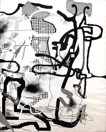 Albert Oehlen, Der Vergiftete Asket, Poisoned Ascetic, 1992