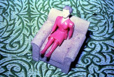 Purple Woman/Gray Chair/Green Rug, 1978