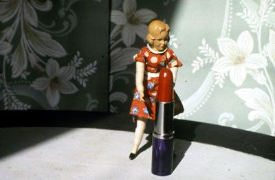 Laurie Simmons, Pushing Lipstick (The Approach), 1979