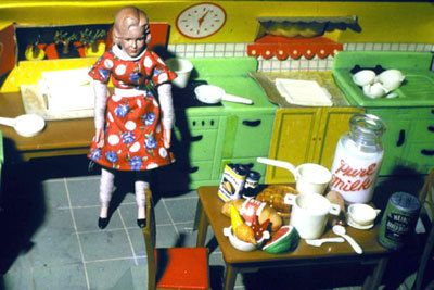Laurie Simmons, Blonde/Red Dress/Kitchen/Milk, 1978