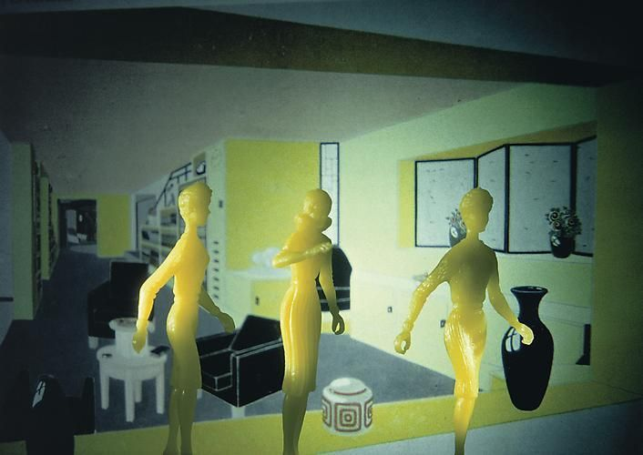 Laurie Simmons, Yellow Smoking Room, 1983