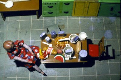 Laurie Simmons, New Kitchen/Aerial View/Seated, 1979