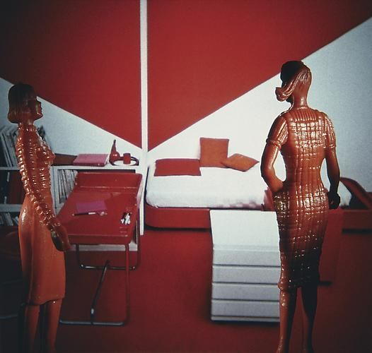 Laurie Simmons, Red and White Homework Area, 1983