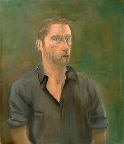 Albert Oehlen, Self portrait with Open Mouth, 2001