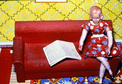 Woman/Red Couch/Newspaper, 1978