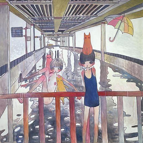 Aya Takano, Jump Into A River, 2009