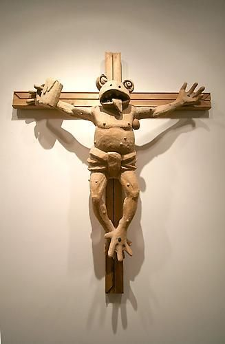 Martin Kippenberger, Frog On A Cross, 1990